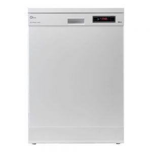 ماشین ظرفشویی جی پلاس مدل GDW-J441W، با ظرفیت 14 نفر و در رنگ های سفید و طوسی
